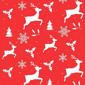 手描きのアウトライン漫画のクリスマスパターン