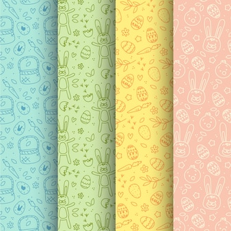 Hand drawn pack easter day pattern