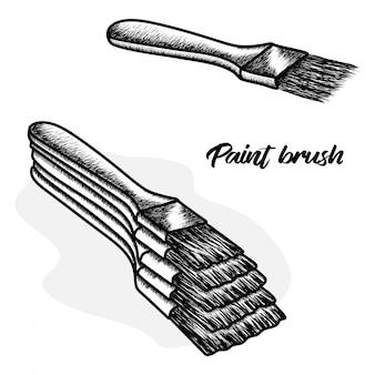Hand drawn paint brush