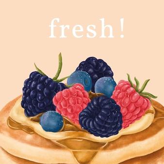손으로 그린 팬케이크 instagram 광고 템플릿