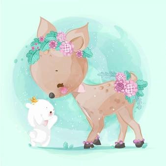 Ручной обращается парад милых животных. векторная иллюстрация