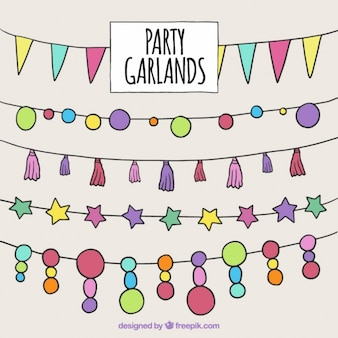 Hand drawn party garland collection