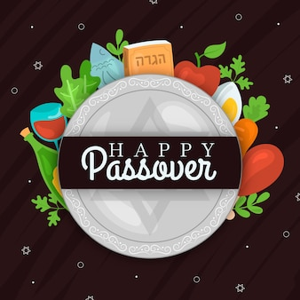 Hand drawn passover background