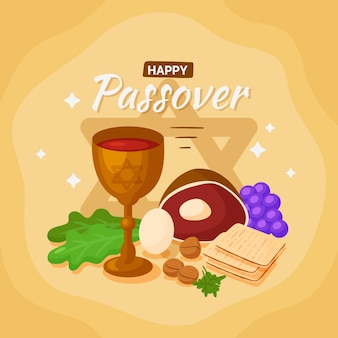 Hand drawn passover concept