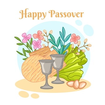 Hand-drawn passover design