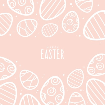 Hand drawn pastel easter