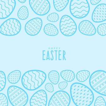 Pasqua pastello disegnata a mano