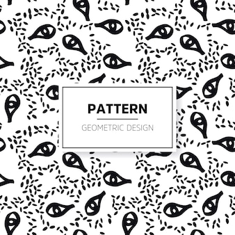 Hand drawn pattern with eyes