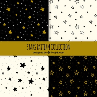 Hand drawn pattern with stars