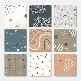 Hand drawn patterned backgrounds
