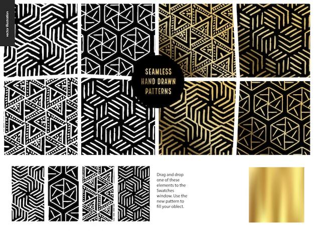 Hand drawn patterns  black