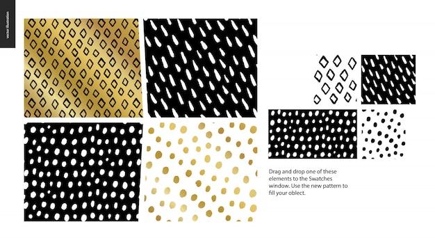 Hand drawn patterns - pieces