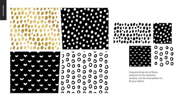 Hand drawn patterns pieces