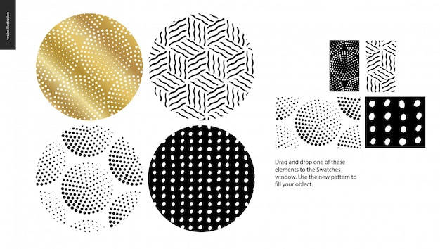 Hand drawn patterns  rounded