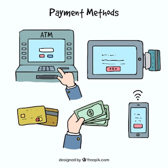 Hand drawn payments with fun style