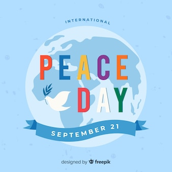 Hand drawn peace day background