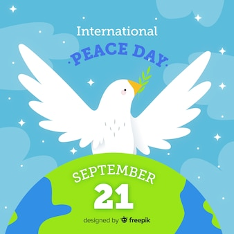 Hand drawn peace day in september