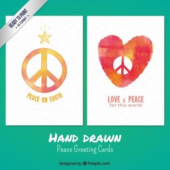Biglietti di auguri di pace disegnate a mano