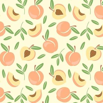Hand drawn peach pattern design