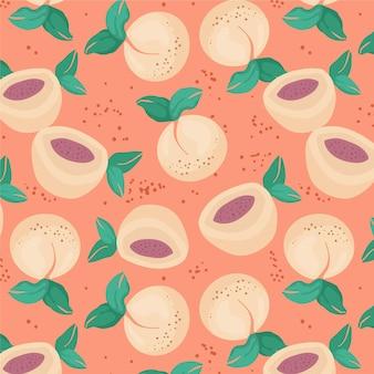 Hand drawn peach pattern