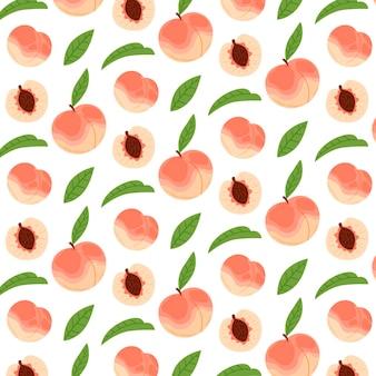 손으로 그린 된 복숭아 패턴