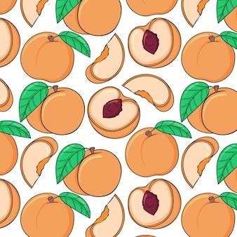 Ручной обращается персиковый узор
