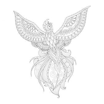 Hand drawn peacock design