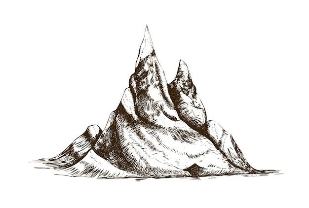 Hand drawn peaks