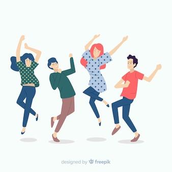 손으로 그린 사람들 춤 컬렉션