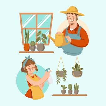식물을 돌보는 손으로 그린 사람들