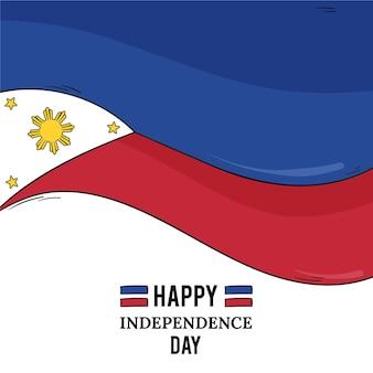 Нарисованная рукой иллюстрация дня независимости филиппины