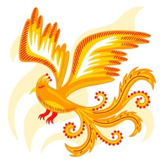 Hand drawn phoenix concept