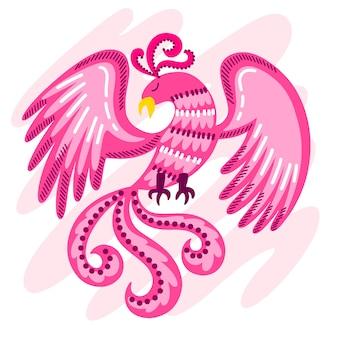 Концепция рисованной феникс