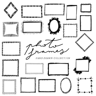 Hand drawn photo frame collection