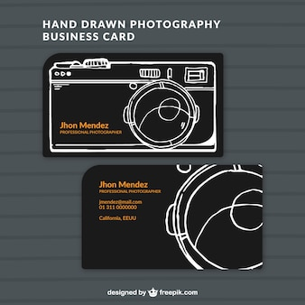 Hand drawn photo studio card