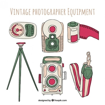 Hand drawn photography equipment