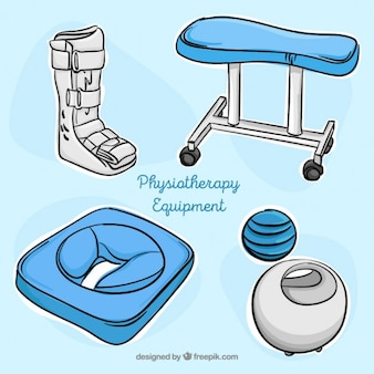Hand drawn physiotherapy accessories