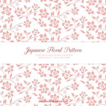 手描きピンクの花パターン