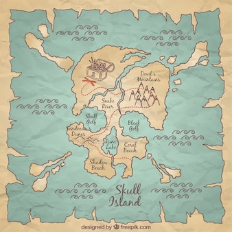 Treasure map vectors photos and psd files free download hand drawn pirate map background gumiabroncs Choice Image