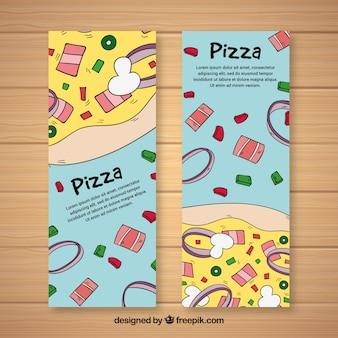 Hand drawn pizza flyer