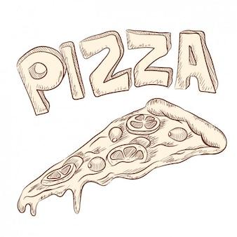 Disegnato a mano illustrazione della pizza