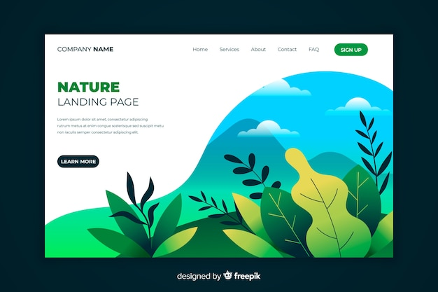 Hand drawn plants landing page