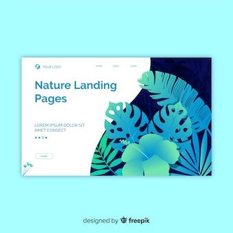 Hand drawn plants landing page