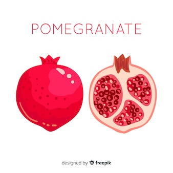 Hand drawn pomegranate background