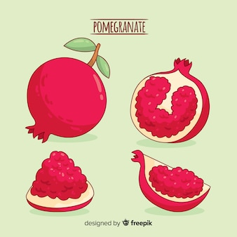 Hand drawn pomegranate collection