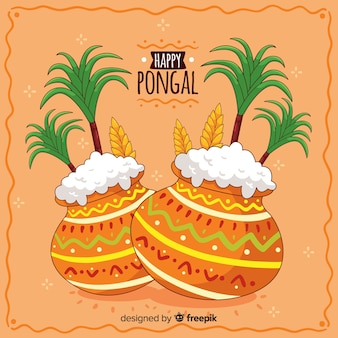 Hand drawn pongal background