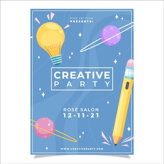 Hand drawn poster template