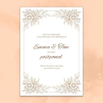 Ручной обращается отложенная свадебная открытка
