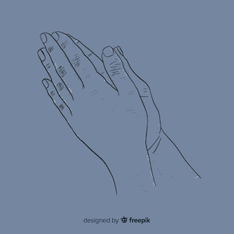 Ручной обращается молящиеся руки фон