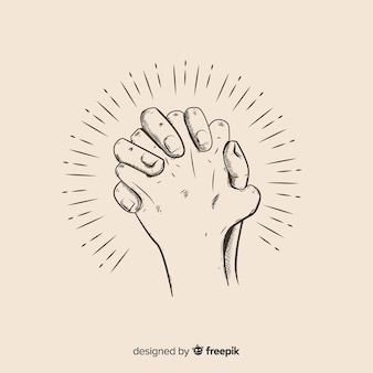 Praying hands background Vector | Free Download